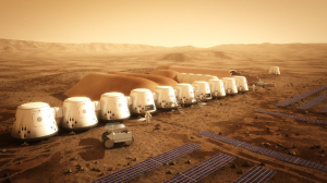 Mars Colony as imagined by the Mars One Project. mars-one.com