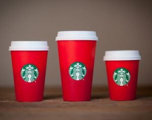 The red cups via Starbucks.com