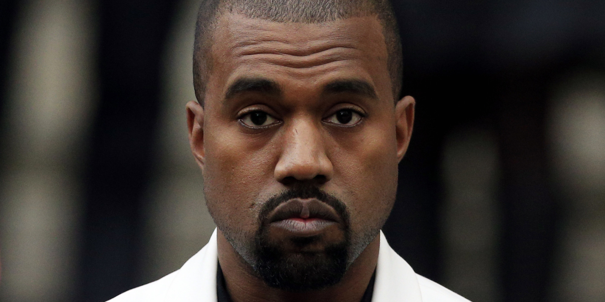 Kanye West leaves St. Paul's Cathedral following the memorial service of Professor Louise Wilson.